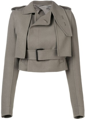 Rick Owens Short Belted Trench