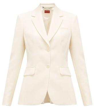 Altuzarra Fenice Single-breasted Wool-blend Jacket - Womens - Beige
