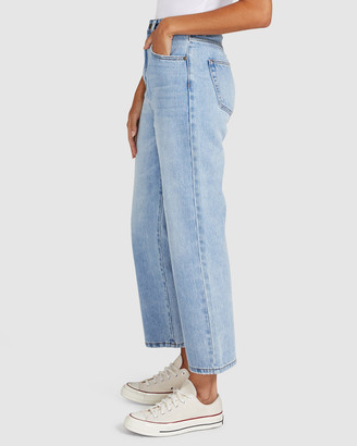 Insight Phoebe Easy Straight Crop Jeans Tide Blue