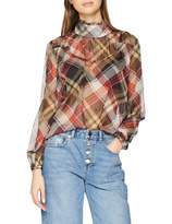 Lost Ink Women's Blouse with Shirring in Check