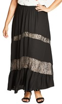 City Chic Plus Size Women's Romantic Maxi Skirt