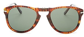 Persol Men's Polarized Round Fold-Up Sunglasses, 54mm