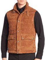 Polo Ralph Lauren Sleeveless Mockneck Leather Vest