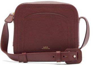 A.P.C. Louisette Smooth-leather Cross-body Bag - Womens - Burgundy