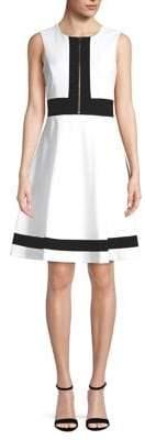 Calvin Klein Zipper Front Fit-&-Flare Dress
