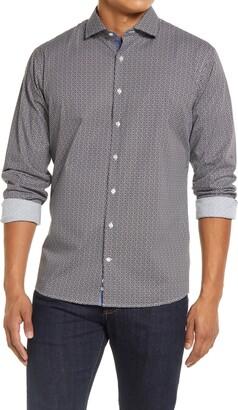 Brax Harry Modern Fit Stretch Print Button-Up Shirt