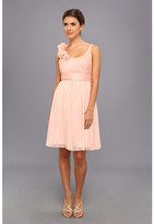 Adrianna Papell Irri Chiffon Rosette Shoulder Short Dress (Bridesmaid)