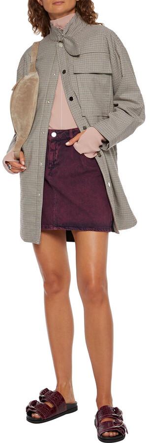 Thumbnail for your product : Ganni Acid-wash Denim Mini Skirt