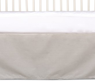 Living Textiles Cotton Crib Bed Skirt with Pompom Trim