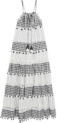 Dodo Bar Or Patricia Tasseled Gingham And Cotton-jacquard Maxi Dress