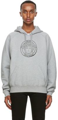 Versace Grey College-Fit Medusa Hoodie