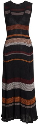 Proenza Schouler Zig-Zag Knit Midi Dress