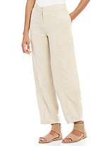 Eileen Fisher Drawstring Wide Leg Ankle Pants