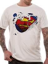 Superman Men's Torn Logo T-Shirt,XX-Large