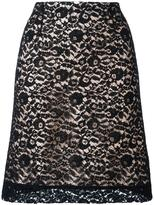 Lanvin lace overlay A-line skirt