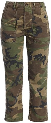 TRAVE Gwen High-Rise Camo Ankle Cargo Jeans