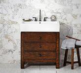 Pottery Barn Mason Single Sink Console - Rustic Mahogany Finish