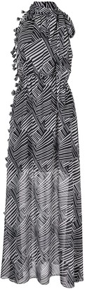 Sachin + Babi Tatum zebra-pattern maxi dress