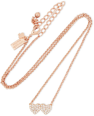 Kate Spade Yours Truly Rose Gold-tone Crystal Necklace