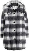 Woolrich Check Print Shirt Coat