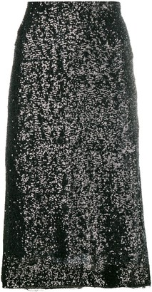 Gianluca Capannolo Sequin Embroidered Skirt