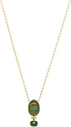 Lito Labradorite Scarab Necklace