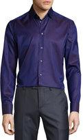 Eton Dot-Print Long-Sleeve Sport Shirt, Dark Purple