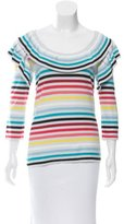 Sonia Rykiel Striped Short Sleeve Top