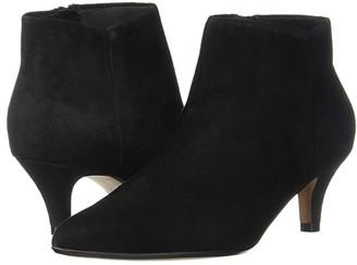 Clarks Linvale Sea (Black Suede) Women's Shoes