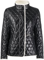 Fay long sleeve quilted pattern jacket