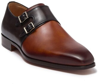 Magnanni Exelero Two Tone Leather Double Monk Strap Loafer