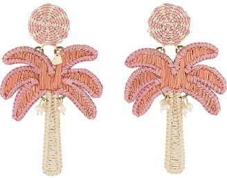 Mercedes Salazar Embroidered Palm Tree Earrings