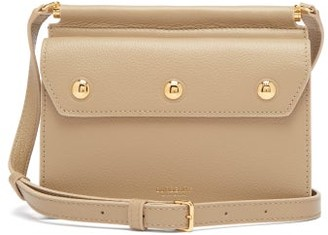 Burberry Title Mini Grained-leather Cross-body Bag - Womens - Cream