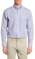 Nordstrom Men's Big & Tall Smartcare(TM) Regular Fit Windowpane Sport Shirt