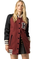 Tommy Hilfiger Collection Long Wool Varsity Jacket