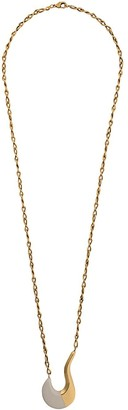 Marni Blow Up hook-shaped long pendant necklace