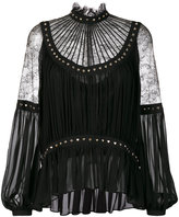 Elie Saab heart studded lace blouse