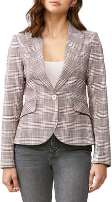 Soia & Kyo Cassandra Slim-Fit Tailored Plaid Blazer