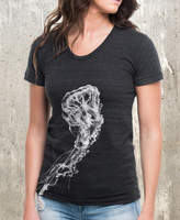 Etsy Giant Jellyfish - Women's Shirt - American Apparel Tri-Blend Shirt - Size S - XL