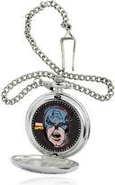 Marvel Captain America Mask Mens Silver-Tone Pocket Watch