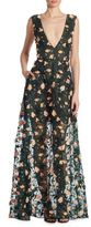 Jason Wu Floral Embroidered Silk Gown