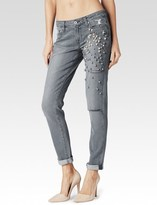 Paige Jimmy Jimmy Skinny - Grey Dolly Embellished