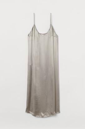 H&M Satin Slip-style Dress - Gray