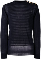 Balmain embossed striped jumper