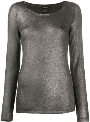 Avant Toi Metallic Knit Top