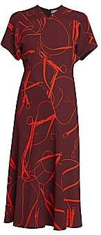 Victoria Beckham Women's Paneled V-Neck Flare Dress