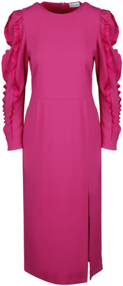 RED Valentino Stretch Cady Midi Dress