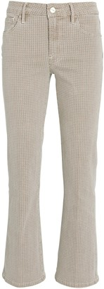 Frame Le Crop Mini Boot Houndstooth Jeans