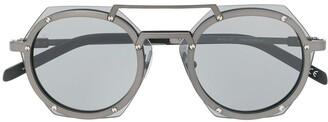 Hublot Eyewear geometric lens tinted glasses