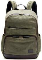 Frye Carter Leather-Trim Canvas Backpack